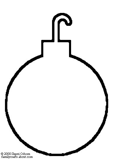 color christmas ball ornament template tree ornament coloring page happy holidays
