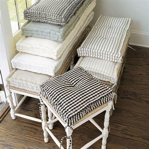 farmhouse bench cushion farmhouse stool cushions ballard designs