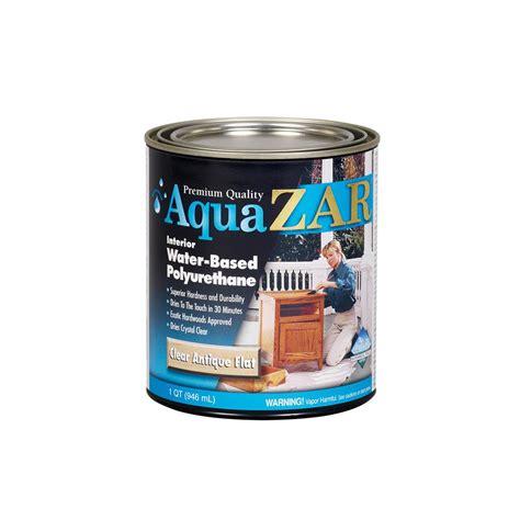 Ac Aqua 3 4 Pk zar 1 qt antique flat aqua water based polyurethane 2 pack 209116 the home depot