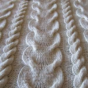 Name knitting super chunky cable throw