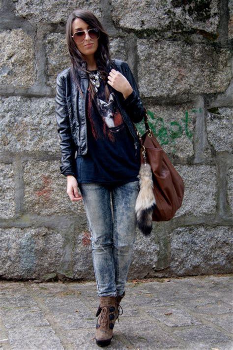 brown aldo boots black leather zara jackets navy bershka