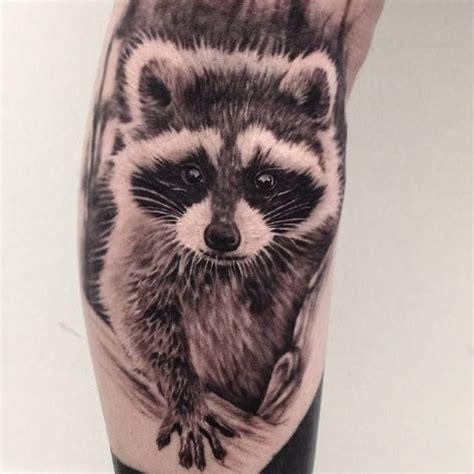 raccoon tattoo designs amazing raccoon by ash lewis