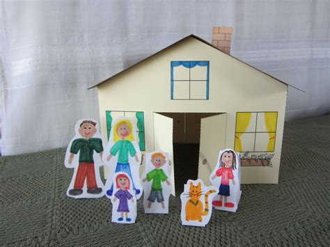 How To Make A 3d House With Paper - 71 best images about cardboard doll house s and more on