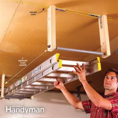 Ladder Storage Racks For Garage by Clever Garage Storage And Organization Ideas Hative