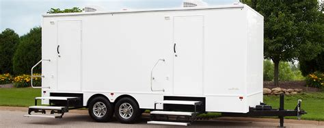 bathroom trailers 8x20 commercial portable bathrooms