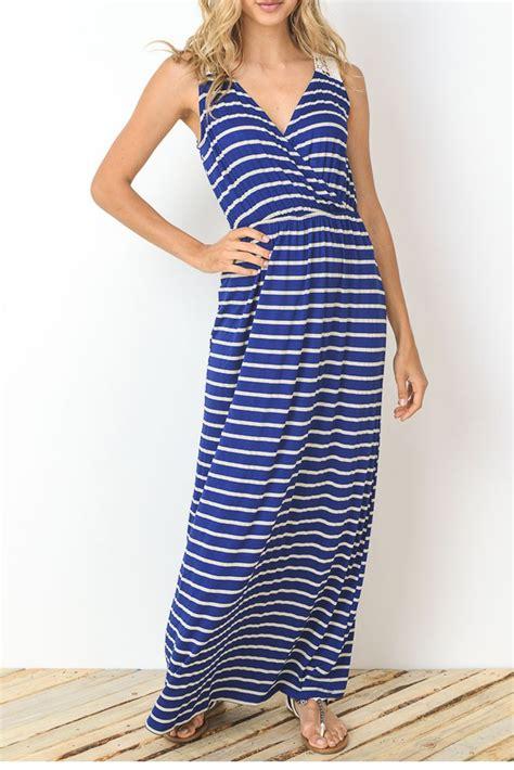 Dress Terusan Sabrina Stripe Ribbon Bc sabrina stripes drop waist nursing friendly maxi dress in royal blue stripes by elly kiara
