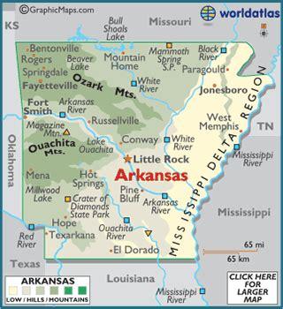 map of usa with arkansas arkansas map geography of arkansas map of arkansas