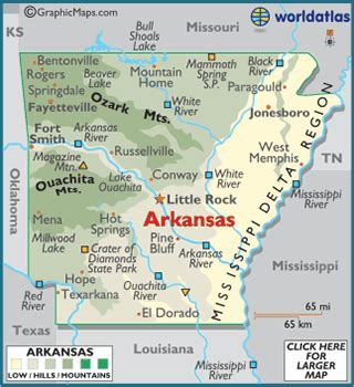 arkansas on map of usa arkansas map geography of arkansas map of arkansas