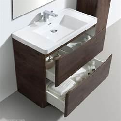 Vanity Unit Chair 900mm Designer Chestnut Bathroom Floor Standing Vanity
