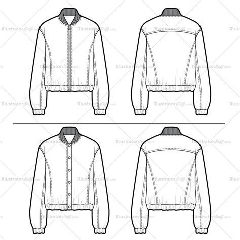 bomber jacket template leather bomber flat template illustrator stuff