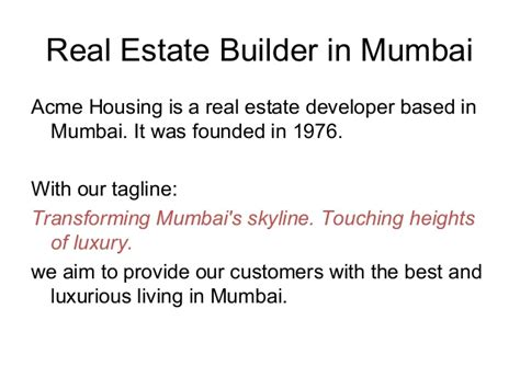 the housing group real estate acme group real estate builder in mumbai