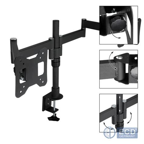 Table Mount Dual Arm Tv Bracket 100 X 100 Pitch For 15 27 Inch Tv 10 24 vesa 75x75 100x100 28kg dual arm monitor tv stand desk mount ebay