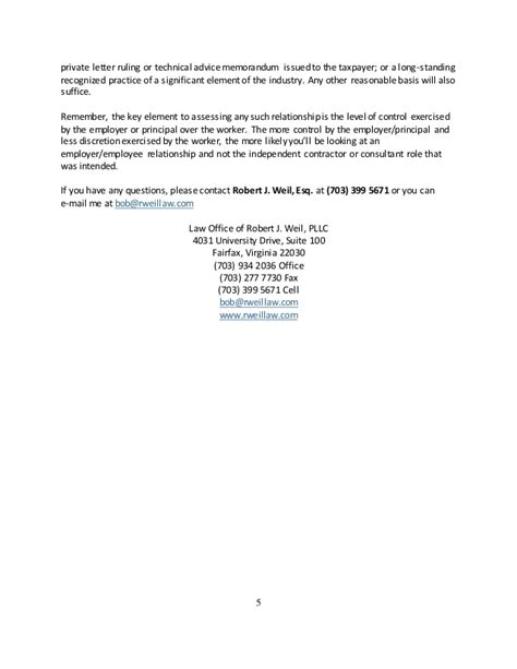 Proof Of Employment Letter For Independent Contractor Independent Contractor Or Employee Article For Website