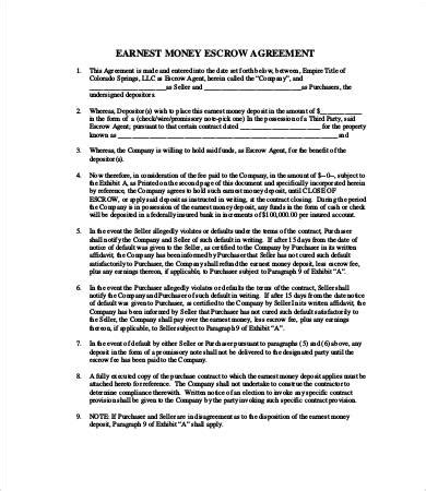 escrow agreement template escrow agreement 9 free word pdf documents