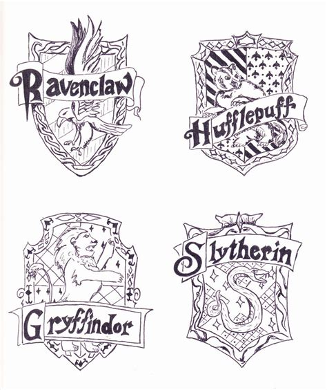 harry potter house coloring pages hogwarts houses free coloring pages