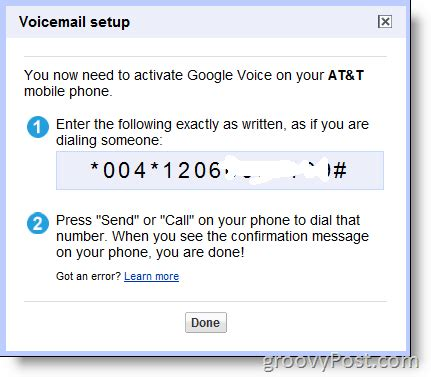 enable google voice   existing number