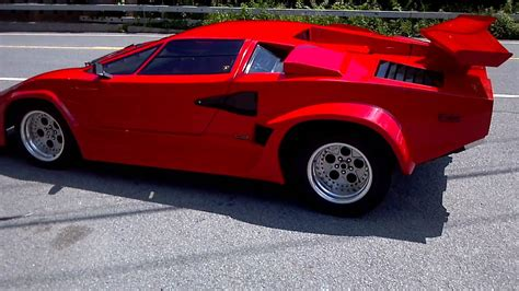 replica lamborghini vs real 1988 lambo countach kit car driving away youtube