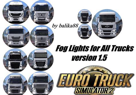 volvo truck fog lights fog lights for all trucks v1 5 ets2 mods truck
