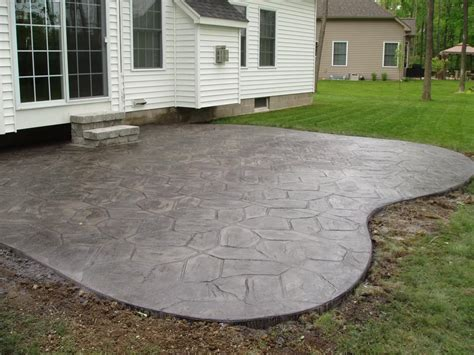 How To Clean Colored Concrete Patio by Sted Colored Grey Concrete Patio 4 From Gabriel Masonry