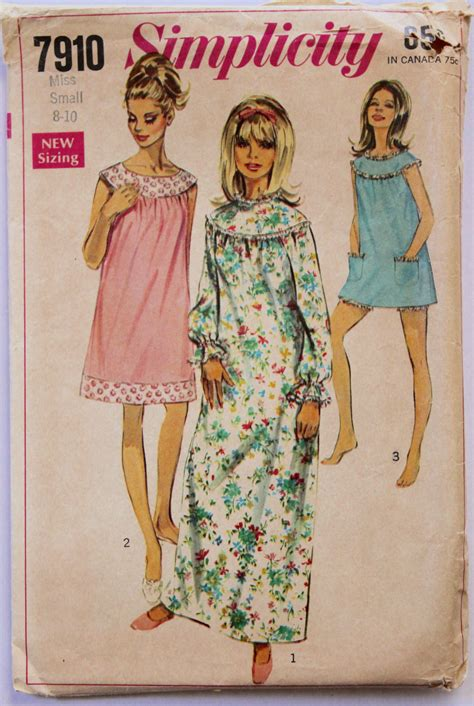 vintage nightgown pattern vintage nightgown and bloomers sewing pattern 1960s