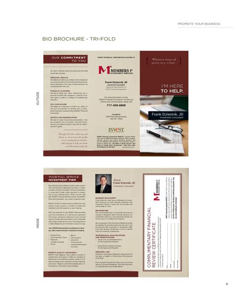promotional brochure template marketing brochure template free