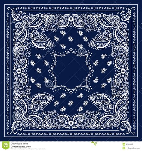 blue bandana stock illustration image 51343809