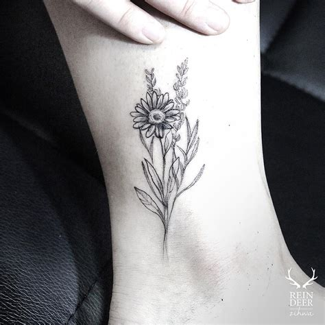 daisy flower tattoo designs flower best ideas gallery