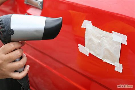 Hair Dryer Fix Car Dent 3 ways to remove a dent in car with a hair dryer wikihow