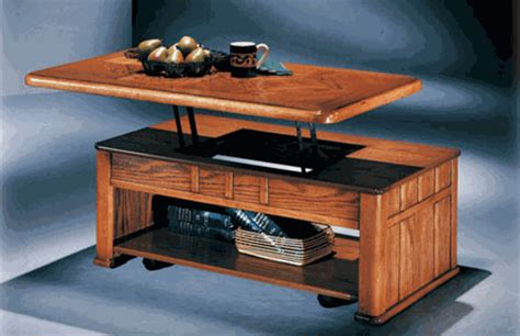 lift top coffee table  hide projector   work