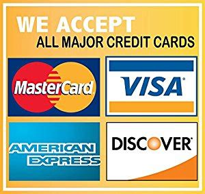 Amazon Mastercard Gift Card - we accept credit cards visa mastercard amex discovery 6 quot x6 quot sticker decal vinyl