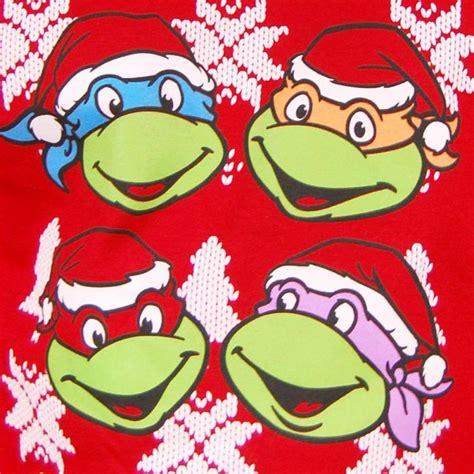 teenage mutant ninja turtles christmas sweater red