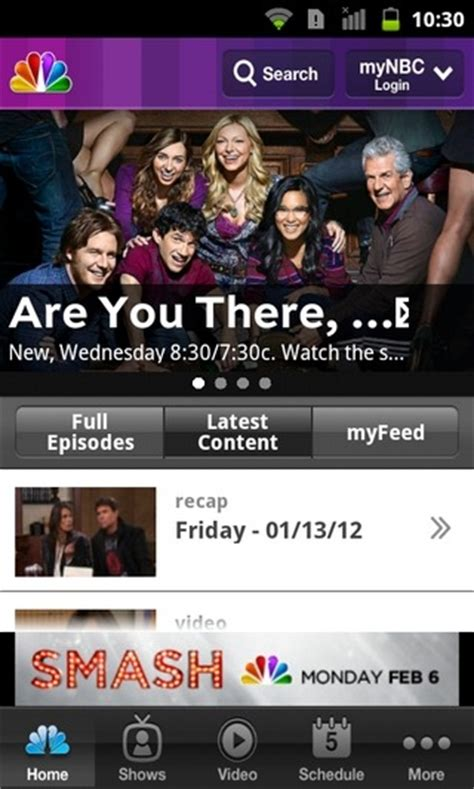 nbc tv app for android official nbc tv app hits the android market