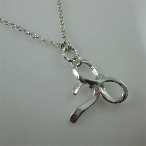 925 Sterling Silver Bow Necklace sterling silver necklace silver bow necklace bow tie