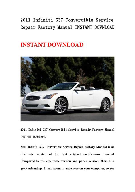 car owners manuals free downloads 2011 infiniti g37 on board diagnostic system 2011 infiniti g37 convertible service repair factory