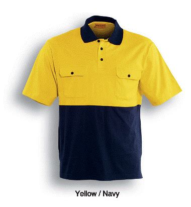 Polo 48 Additional hi vis cotton jersey polo high vis sleeve cotton jersey 2 pocket polo day use only