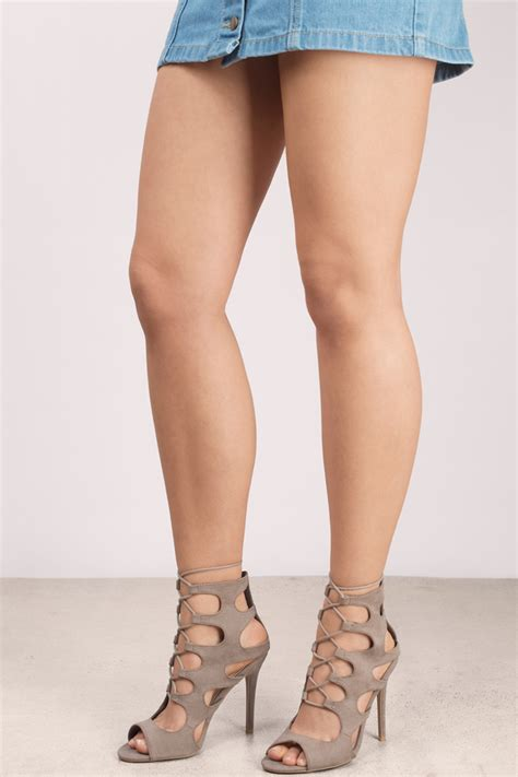 taupe color heels taupe strappy heels ha heel