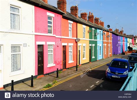 houses to buy in blackpool colourful terraced house bloomfield road blackpool england stock photo royalty free