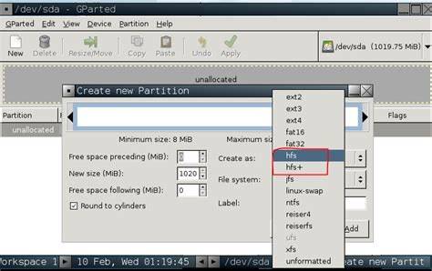 file format hfs filesystems how can i format a partition as hfs on a pc