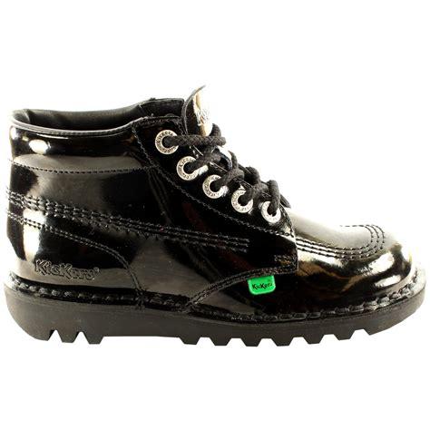 Sepatu Docmar 3 Unisex Size 2 unisex youth kickers kick hi black patent back to school shoes all sizes ebay