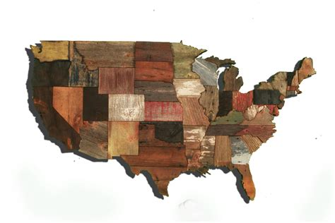 woodworking usa united states of america map from reclaimed barn wood
