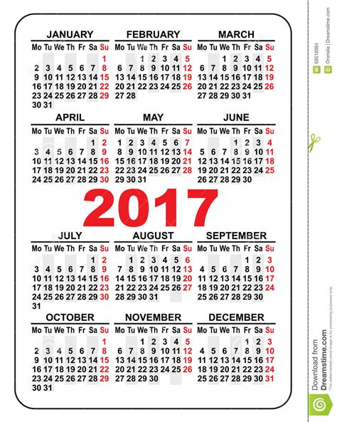 2017 And 2018 Pocket Calendar 2017 Pocket Calendar Yearly Calendar Printable