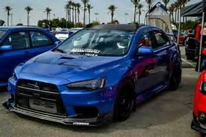 Mitsubishi Evo 10 Blue Bad Blue Evo X Lancer Evolution