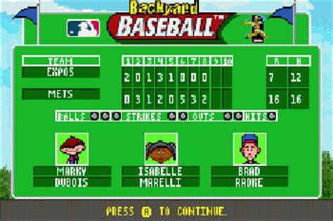 Backyard Baseball Gba by Backyard Baseball Symbian Backyard Baseball Sis