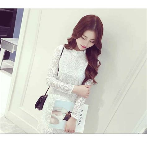 Valencia Dress Putih Brokat Import dress putih brokat cantik import 2018 myrosefashion