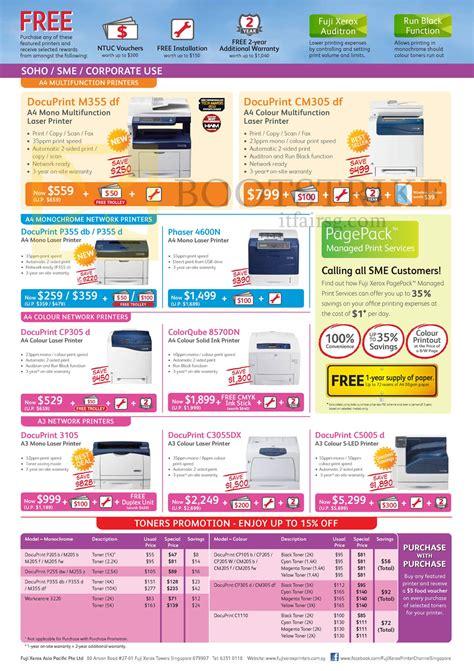 Fuji Xerox Docuprint P355 D fujifilm fuji xerox printers docuprint m355 df cm305 df p355 db d cp305 d 3105 c3055dx