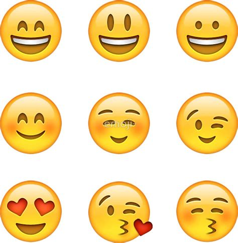 emoji pack quot smilies emoji pack a quot stickers by emoji redbubble