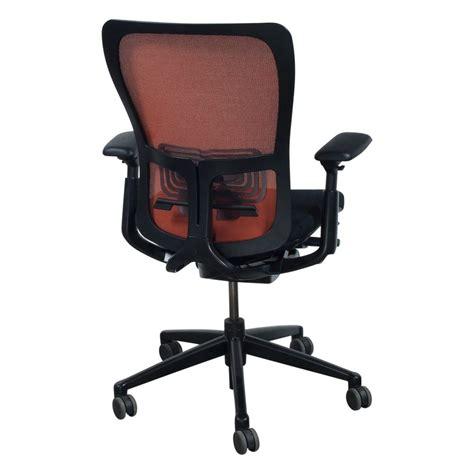 haworth zody task chair haworth zody used orange back task chair black seat