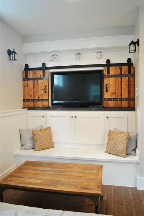 Tv Cabinet With Doors To Hide Tv The Great Cover Up 7 Ways To Disguise Your Tv Tidbits Twine