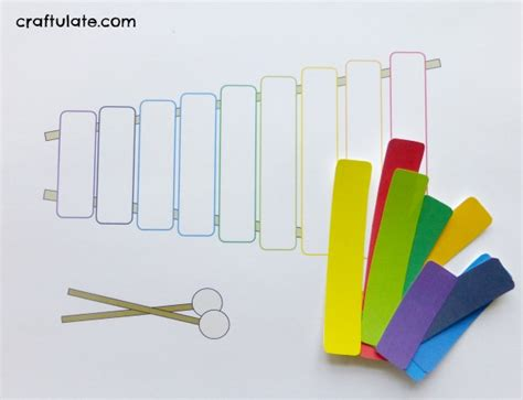 printable xylophone pictures xylophone craft with free printable craftulate