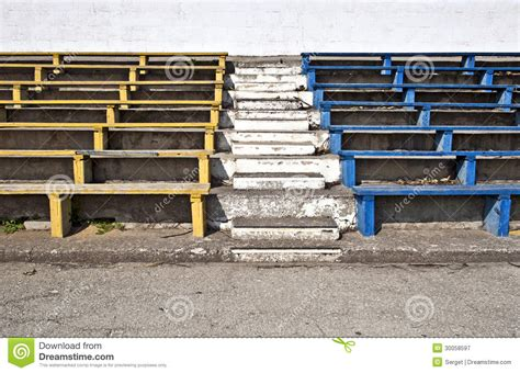 stadium bench old stadium benches royalty free stock photography image
